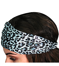 Silver and Grey Leopard Headband #AH0035-M