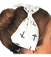 Black and White Cross Bow Headband #IH0007-JW