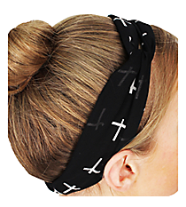 Black Cross Headband #IH0006-J