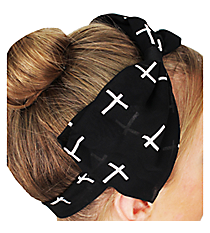 Black Cross Bow Headband #IH0007-J
