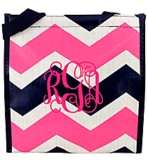 Pink and Navy Hi Tide Power Lunch Tote #HI-PL-000087