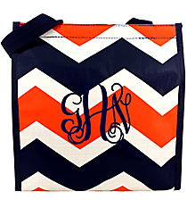 Orange and Navy Hi Tide Power Lunch Tote #HI-PL-000148