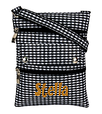 Houndstooth Mini Crossbody Bag #312-HT