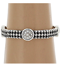 Houndstooth with Crystal Accents Stretch Bracelet #AB6802-ASC