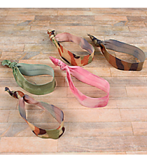 One Set of 5 Camouflage Hair Ties #HWR9423-SHIPS ASSORTED