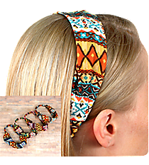One Wide Multi-Color Aztec Headband #HWR9537-SHIPS ASSORTED