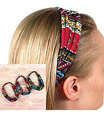 One Wide Bohemian Headband #HWR9538-SHIPS ASSORTED