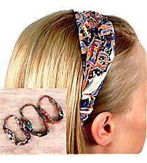 One Wide Boho Print Headband #HWR9598-SHIPS ASSORTED