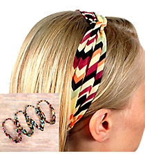 One Multi-Color Chevron Knotted Headband #HWR9547-SHIPS ASSORTED