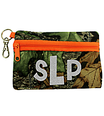 Mossy Oak with Orange Trim Small Zip ID Case #ID-MOO