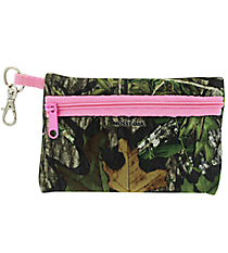 Mossy Oak with Pink Trim Small Zip ID Case #ID-MOP