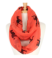 Pink Horse Print Infinity Scarf #IF0005-P