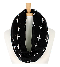 Black Cross Infinity Scarf #IF0012-SJ