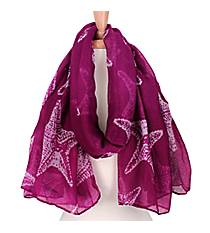Purple Starfish Print Scarf #IF0015-A