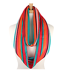 Multi-Color Striped Infinity Scarf #IF0017-MT1