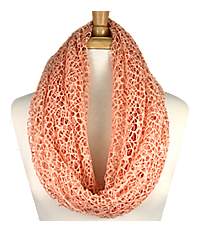 Peach Woven Infinity Scarf #IF0031-P