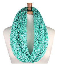 Turquoise Woven Infinity Scarf #IF0031-TQ