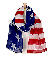 Stars and Stripes Patriotic Scarf #IF0033-MR