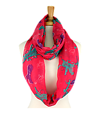 Hot Pink Cowgirl Print Infinity Scarf #IF0051-P