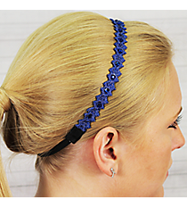 Midnight Blue Crystal Accented Headband #IH0016-M