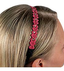 Fuchsia Crystal Accented Headband #IH0016-F