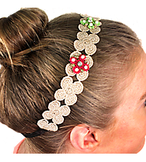 Natural Lace Flowers Headband #IH0060-GMT