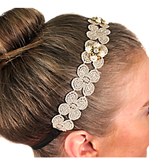 Natural Lace Flowers Headband #IH0060-GPL