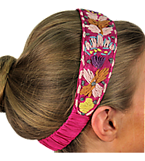 Fuchsia with Woven Flowers Headband #IH0063-F
