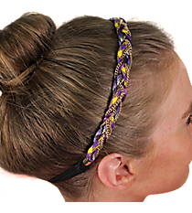 Purple and Goldtone Braided Headband #IH0068-GA