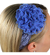 Blue Lace Flowers Headband #IH0084-M