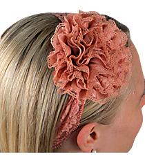 Peach Lace Flowers Headband #IH0084-P