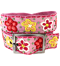 Pink with Woven Flowers Belt #IL0001-RHP