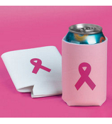 1 Pink Ribbon Insulated Drink Holder #3/807-SHIPS ASSORTED