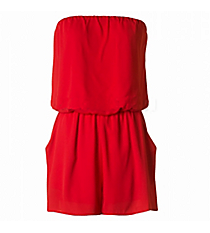In The Pocket Romper, Red #J14035-ST86-RK *Choose Your Size