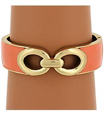 Goldtone and Peach Hinge Bracelet #JB4086-GPE