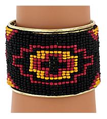 Southwestern Seed Bead Cuff Bracelet #JB4409-BKYE