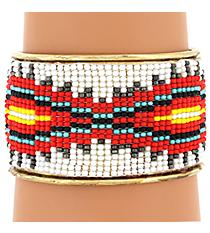 Aztec Seed Bead Cuff #JB4450-MT