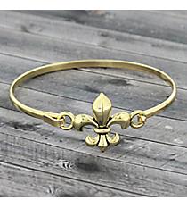 Fleur De Lis Goldtone Hook Bracelet #JB4970-AG