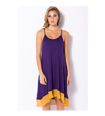 Fifty Yard Line Dress, Purple and Gold #JD4283GD *Choose Your Size