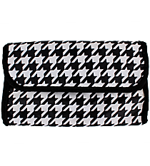 Houndstooth Roll Up Cosmetic Bag #12100-HT