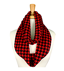 Black and Red Houndstooth Infinity Scarf #JF0021-RB