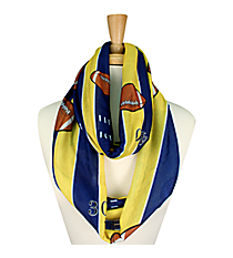 Blue and Yellow Football Field Infinity Scarf #JF0034-BLYE
