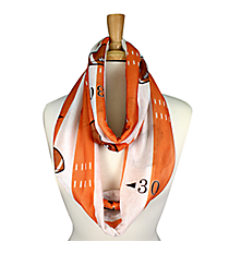 Orange and White Football Field Infinity Scarf #JF0034-ORWT