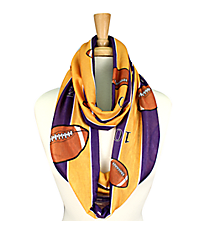 Purple and Yellow Football Field Infinity Scarf #JF0034-PUYE