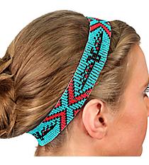 Turquoise Egyptian Eagle Seed Bead Headband #JH0019-TQCO
