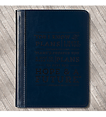 Jeremiah 29:11 Navy LuxLeather Flexcover Journal #JL186