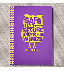 Psalm 91:4 Purple Owl Hardcover Journal #JLD001