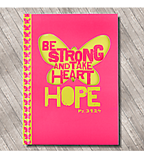 Psalm 31:24 Hot Pink Butterfly Hardcover Journal #JLD002