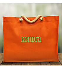 Orange Classic Juco Tote Bag #35744