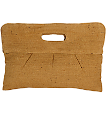 Natural Pleated Jute Clutch #35097